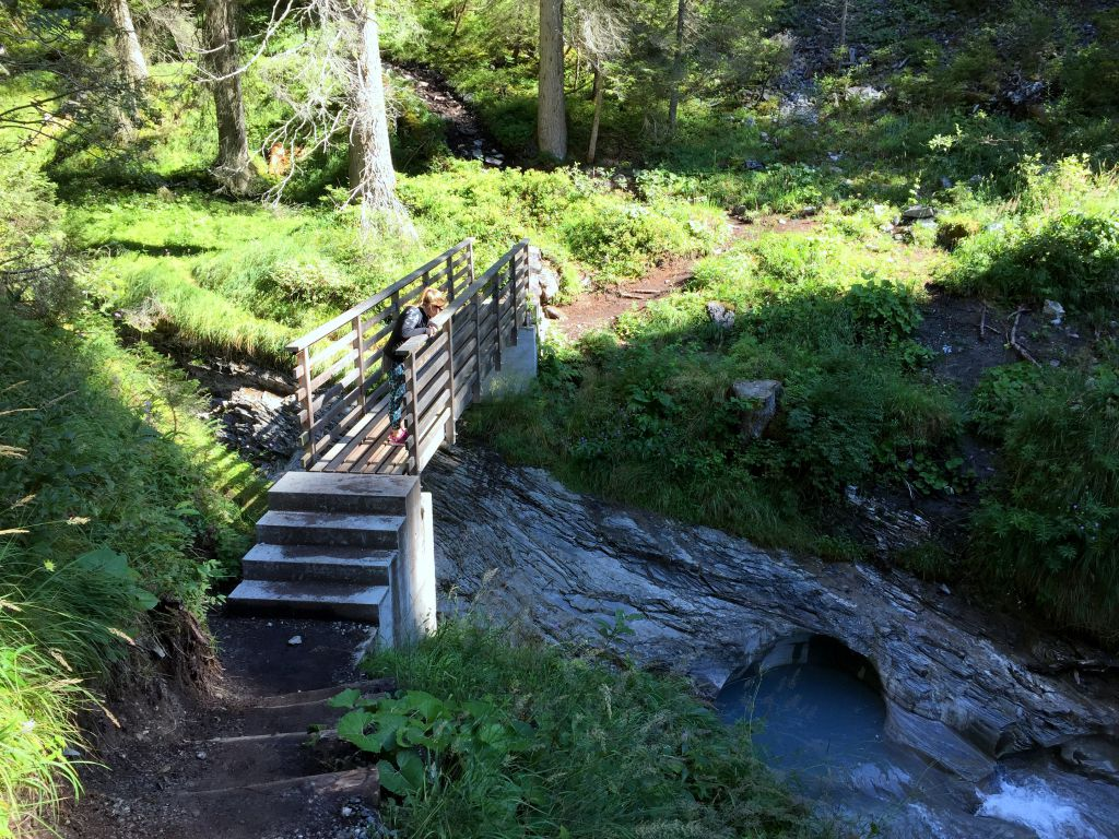one of the many bridges you will cross  on your way up to Segnesboden